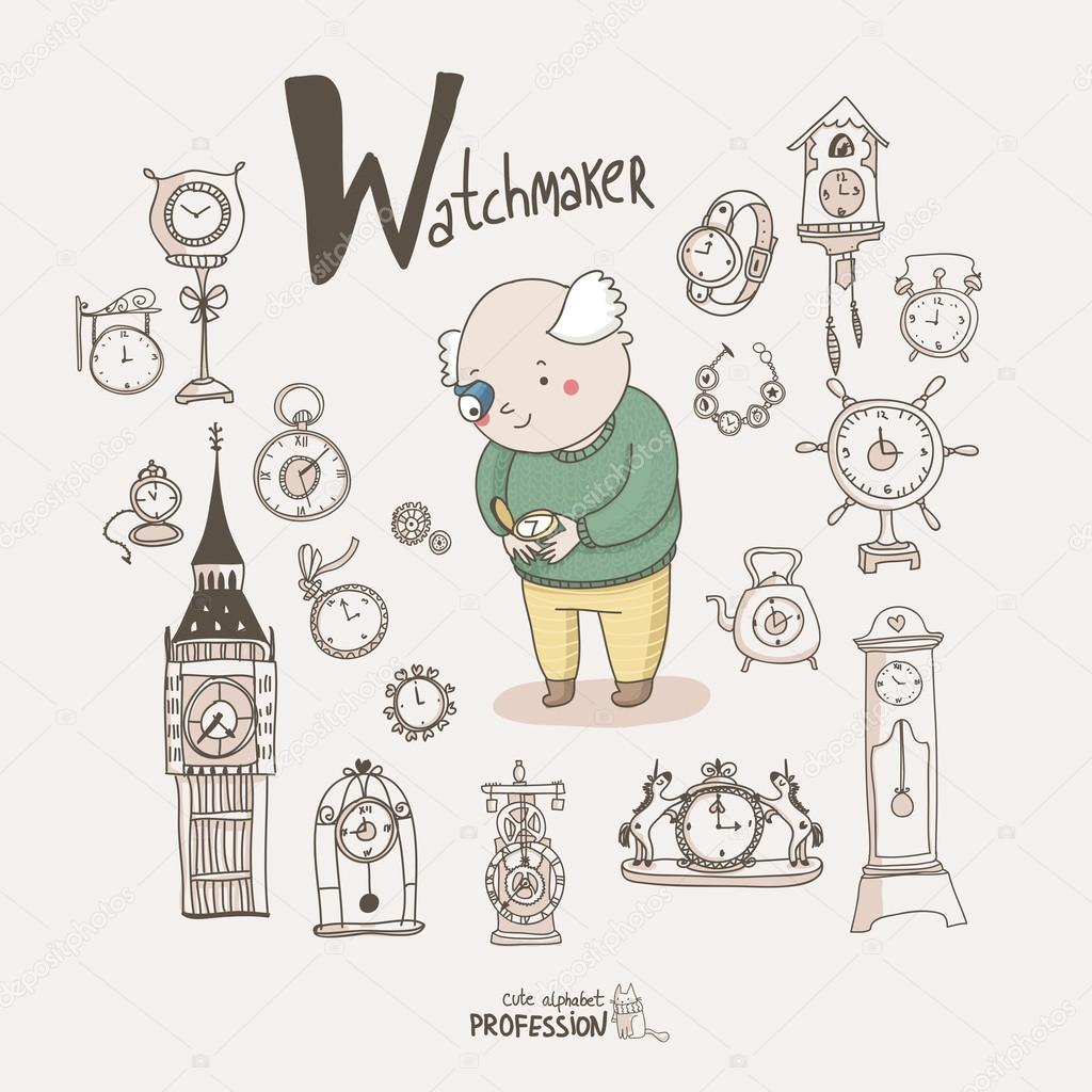 Watchmaker with clocks