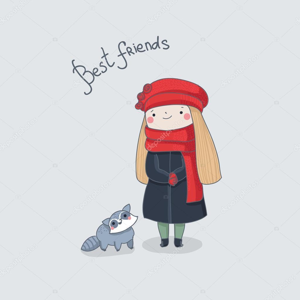 Девочка и коты мультфильм