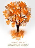 podzimní strom s červenými listy