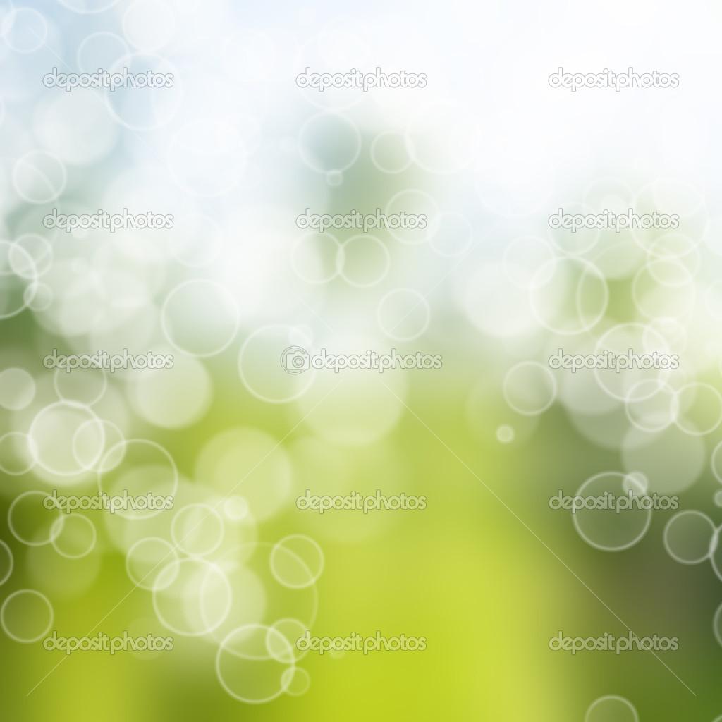 Sfondo Bianco E Verde Con Sfocatura Bokeh Foto Stock Jeneva86