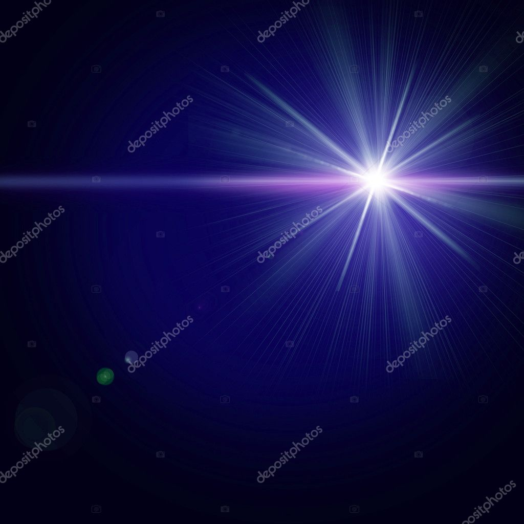 Star in a night sky background