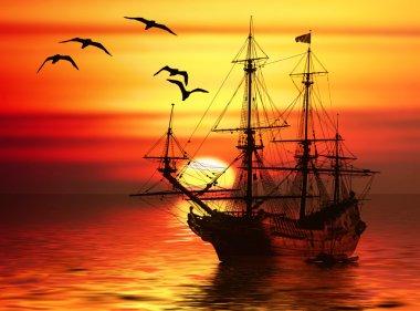 """Картина, постер, плакат, фотообои """"лодка в море печать фото"""", артикул 30277321"""