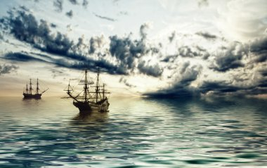 Ships in sea