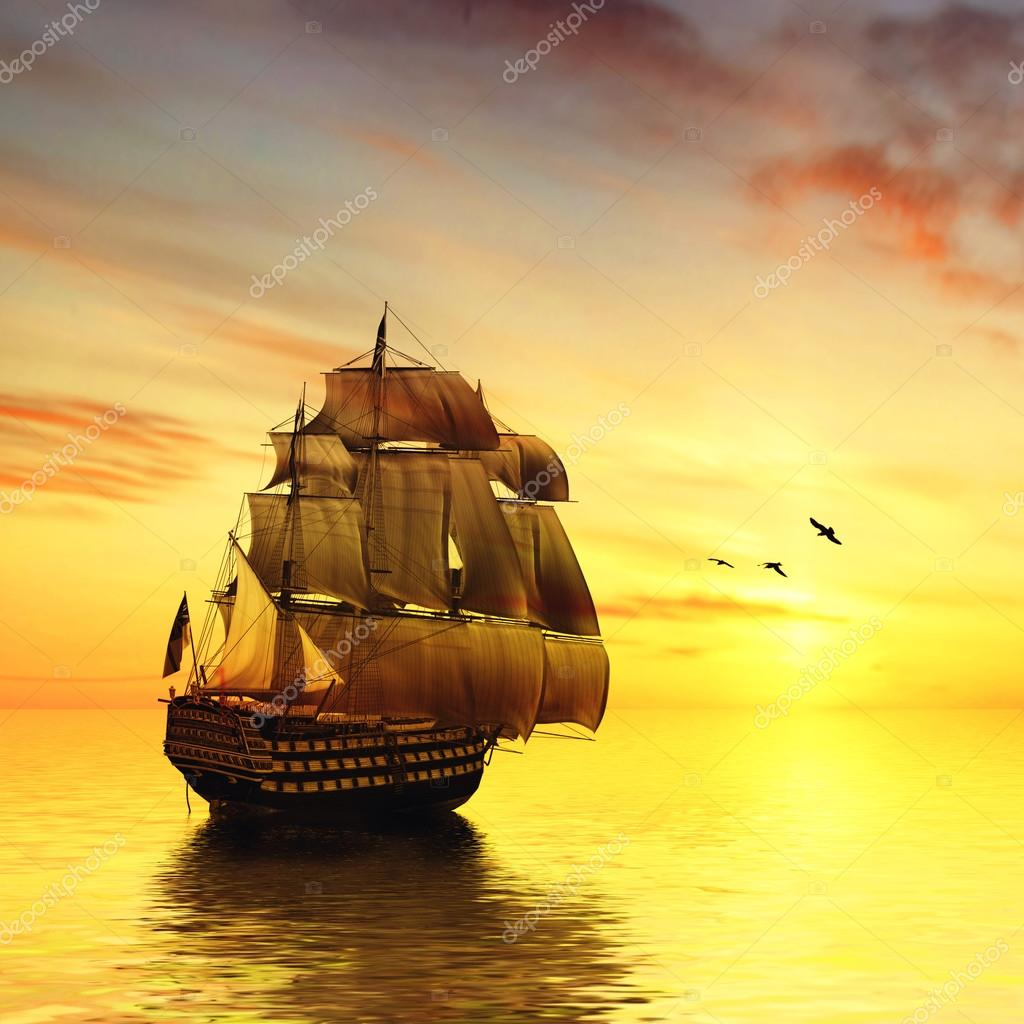 Tylko na zewnątrz statek na morzu — Zdjęcie stockowe © jeneva86 #51621155 RN33