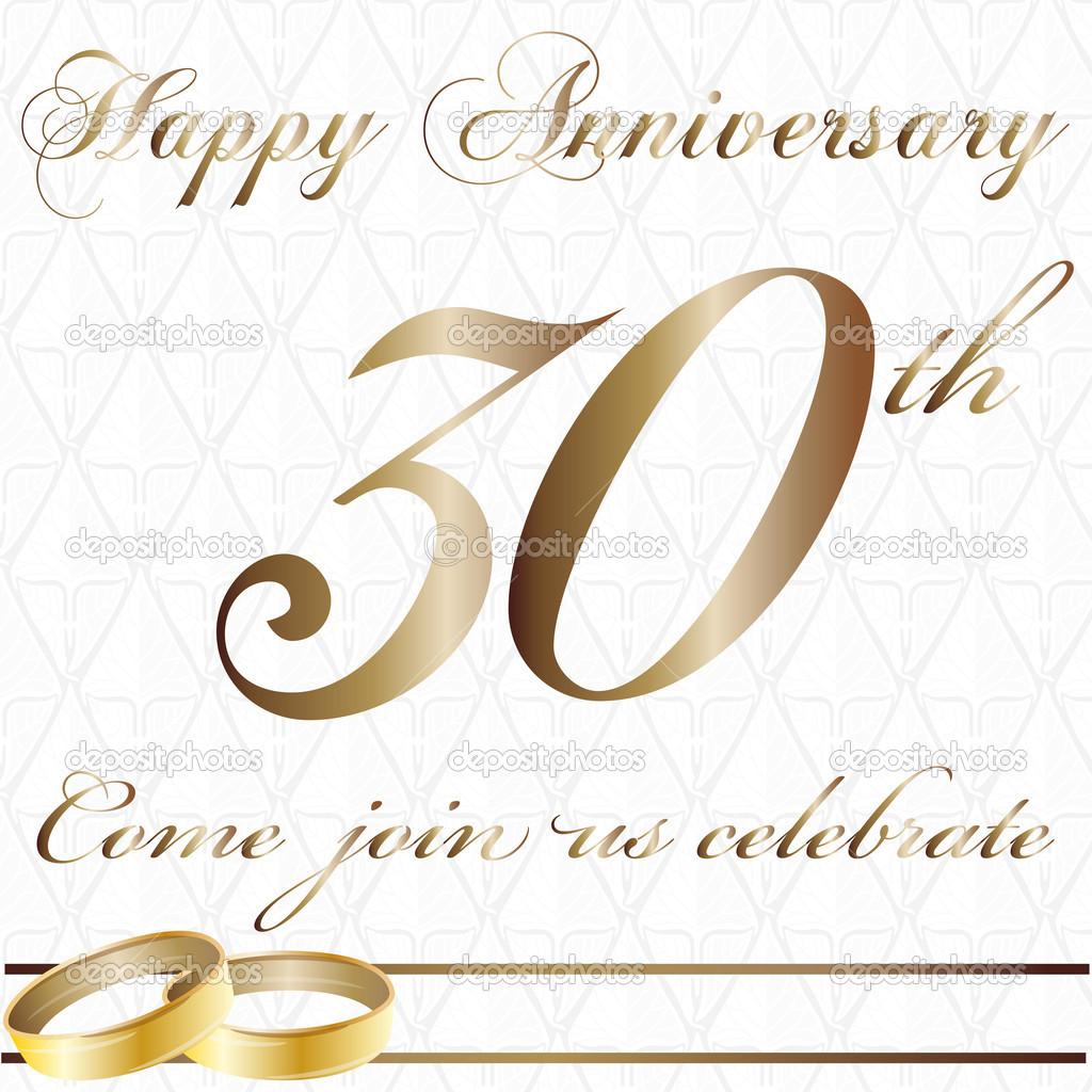 Anniversario Matrimonio Trentanni.Thirty Year Anniversary Stock Vector C Paularigo 33787161