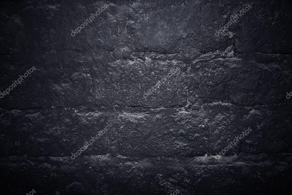 Dark Stone Wall Texture Background Black Bricks Photo By EugenePartyzan