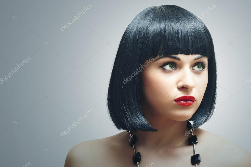 Corte De Pelo Negro Corto Pixie Negro Peinados U El Ltimo