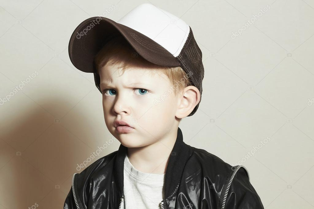 Funny Little Boy Hip Hop Style Fashion Children Handsome Pose Boy In Tracker Hat Young Rapper Funny Child In Cap  Years Old P O By Eugenepartyzan