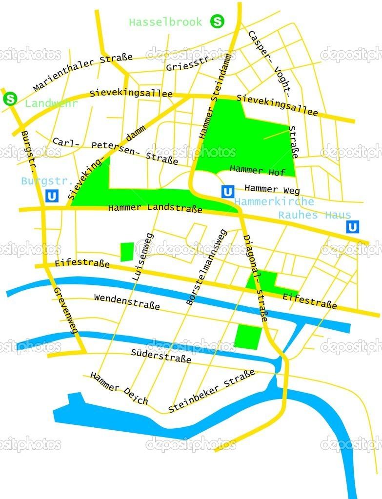 Hamm Karte.Karte Von Hamm Stockvektor Dreibirnen 21139685