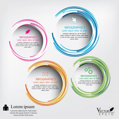 Modern circle Vector illustration. can be used for workflow layo