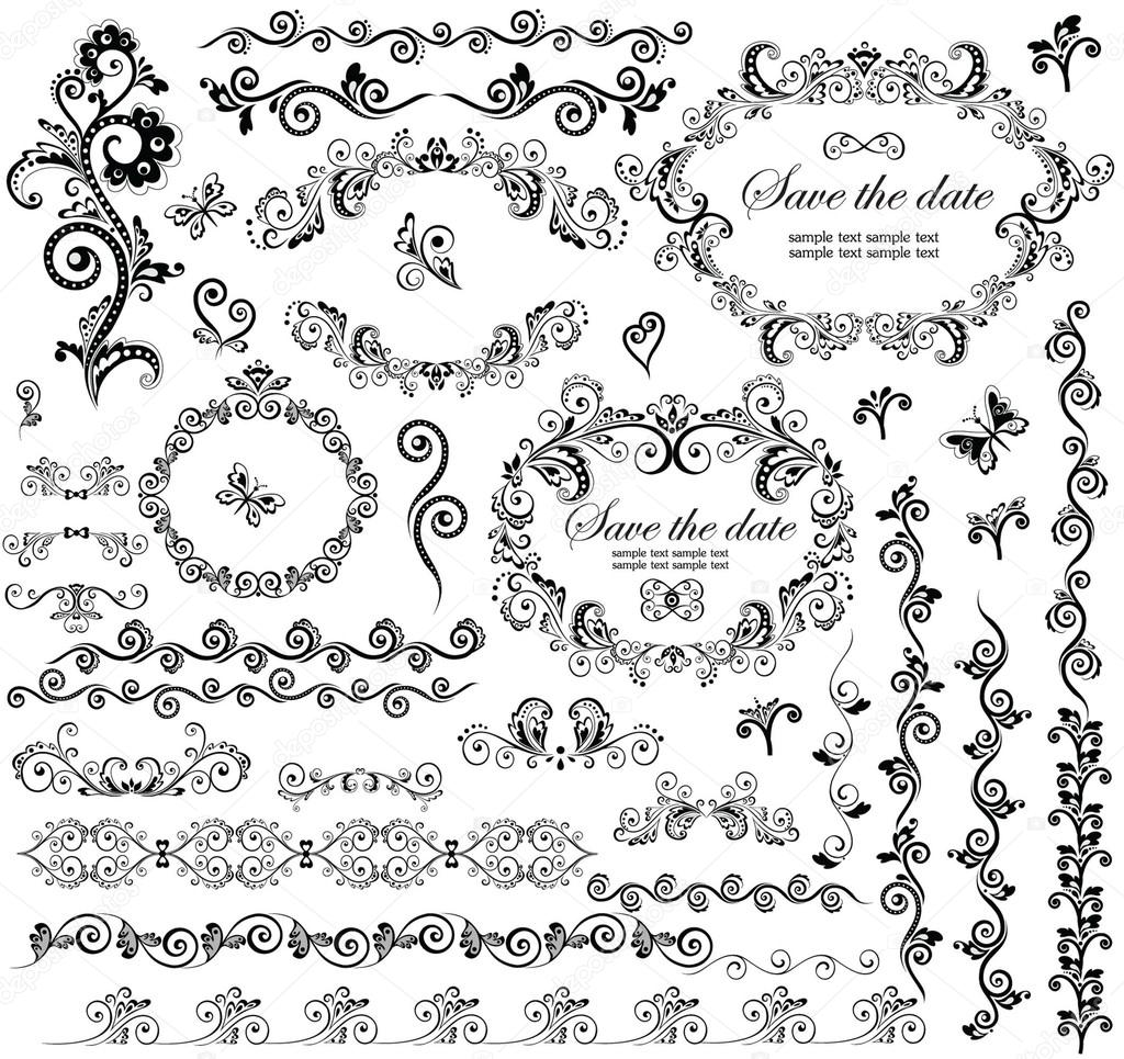 Decorative wedding frames stock vector antonovaolena 19440289 decorative wedding frames stock vector junglespirit Image collections