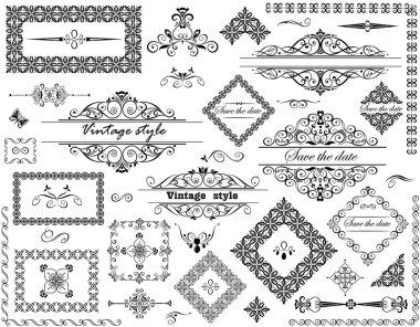 Vintage decoration clip art vector