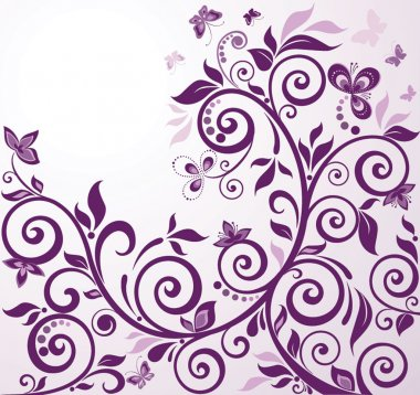 Violet vintage floral card