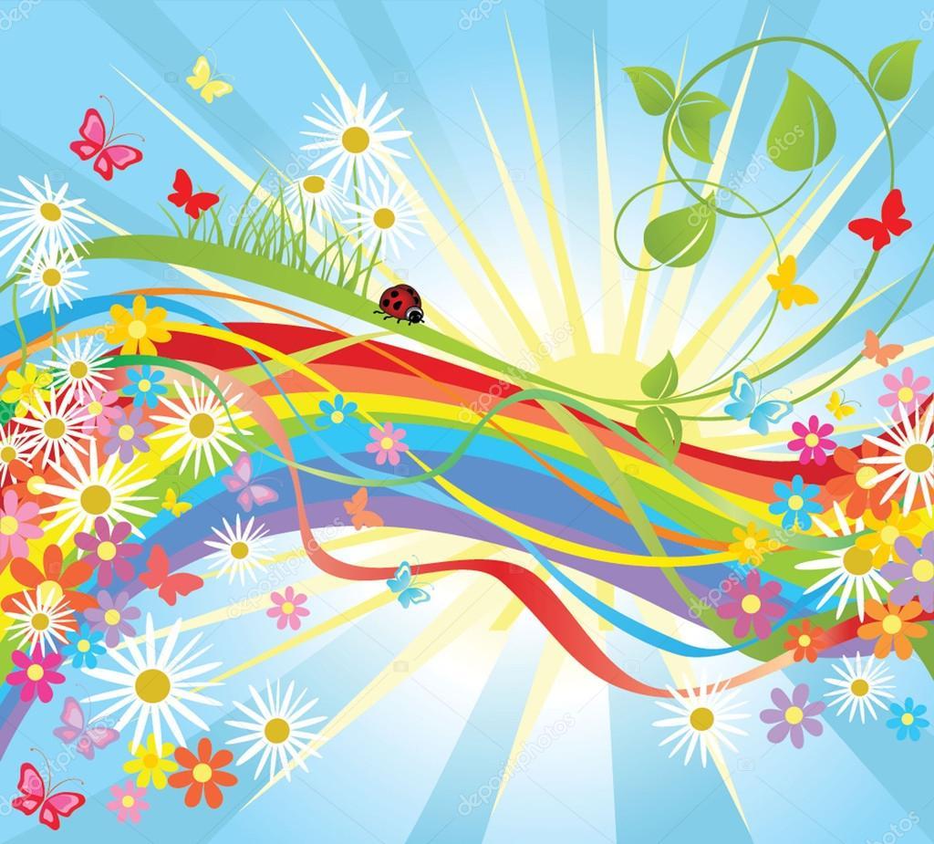 Summer colorful background — Stock Vector © antonovaolena ...