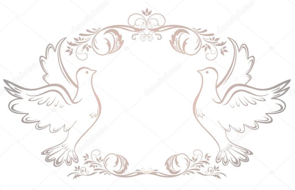 Hochzeit Vintage frame — Stockvektor © antonovaolena #19716495