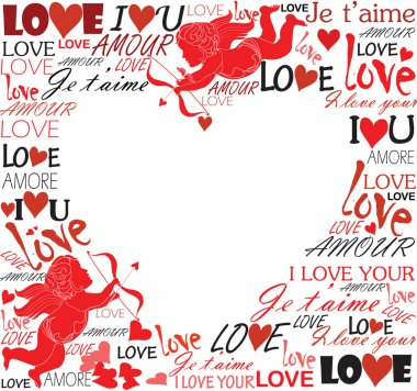With love clip art vector