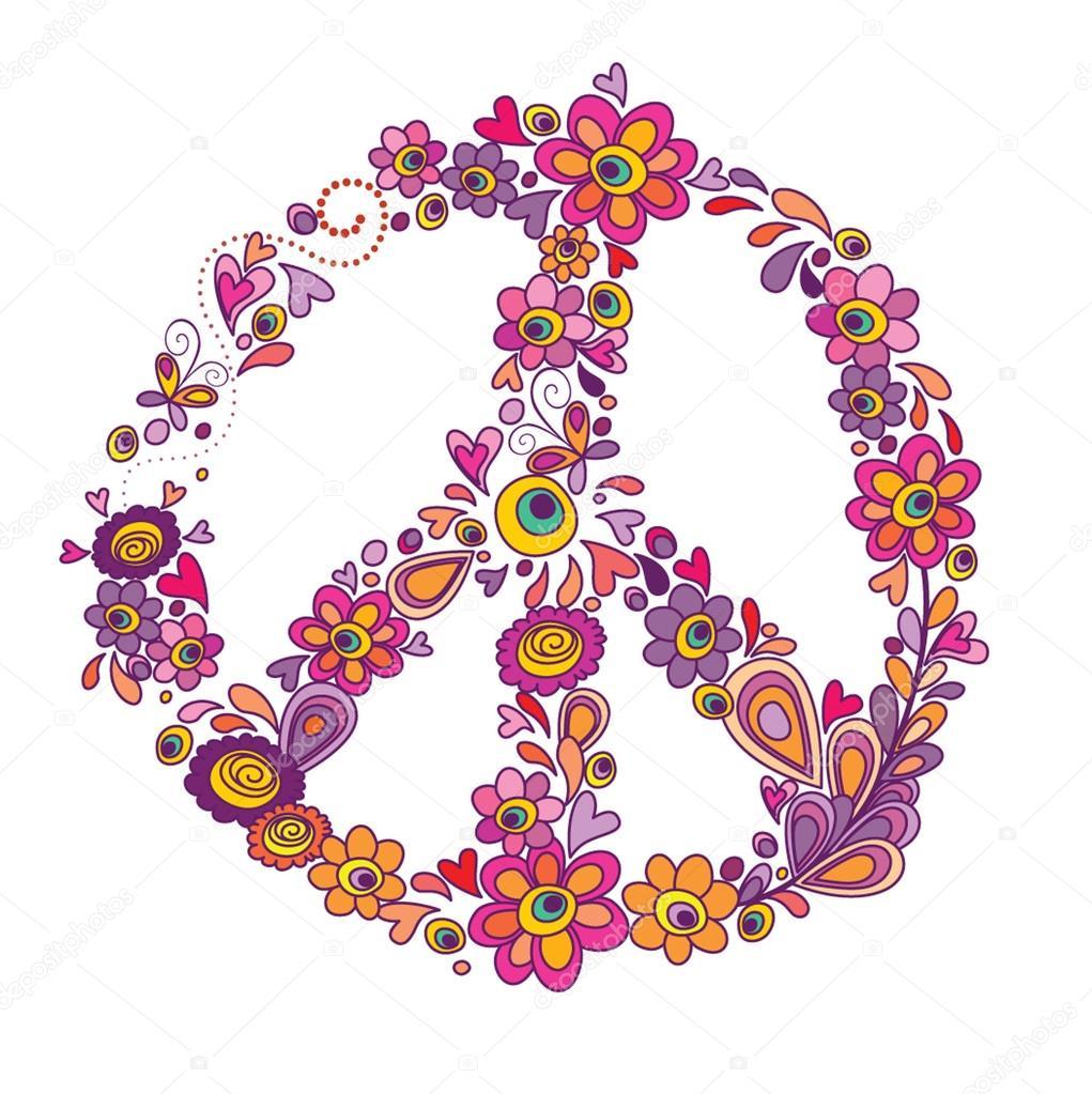 Peace flower symbol stock vector antonovaolena 19805463 peace flower symbol stock vector biocorpaavc Choice Image