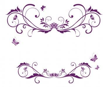 Beautiful violet frame