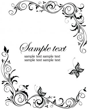 Vintage wedding design clip art vector