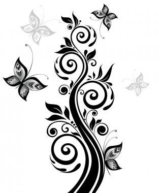 Floral black tree