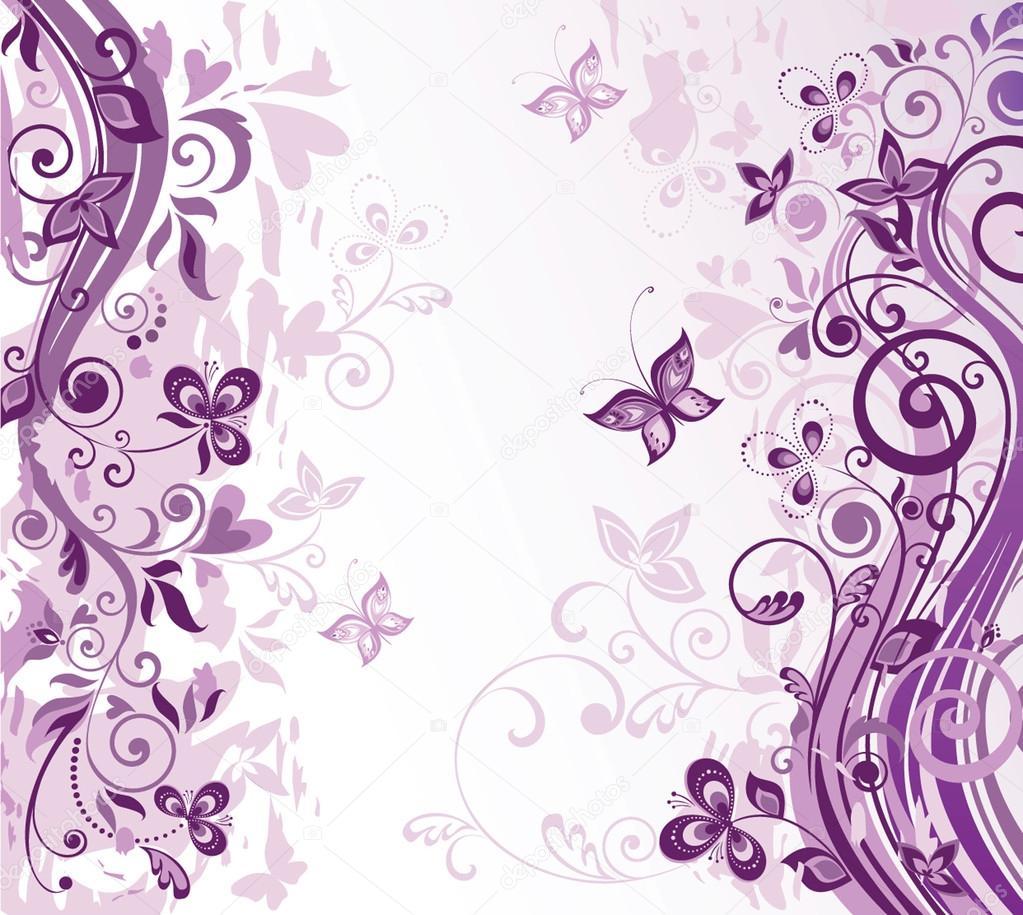 Фиолетовый фон для открытки