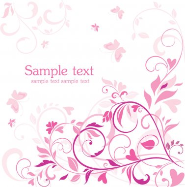 Beautiful floral pink card