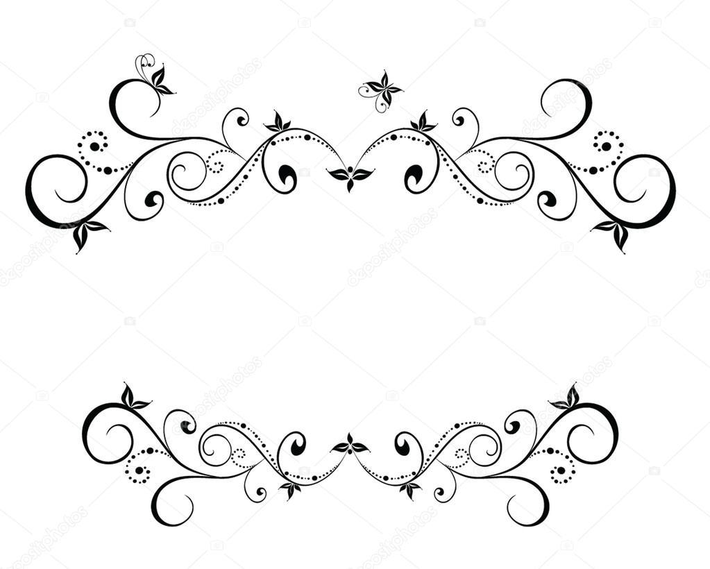 boda marco floral negro — Archivo Imágenes Vectoriales ...