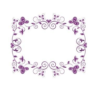 Floral violet decorative border