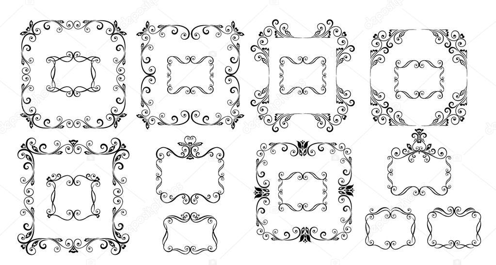 cornici decorative vettoriali stock antonovaolena