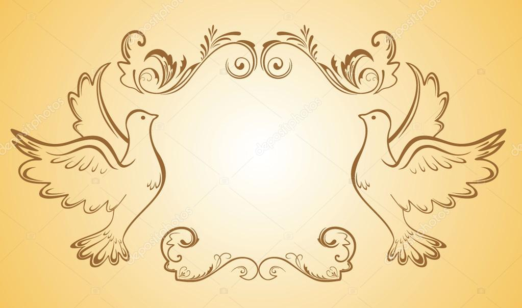 wedding frame vector by antonovaolena
