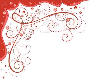 Decorative red border
