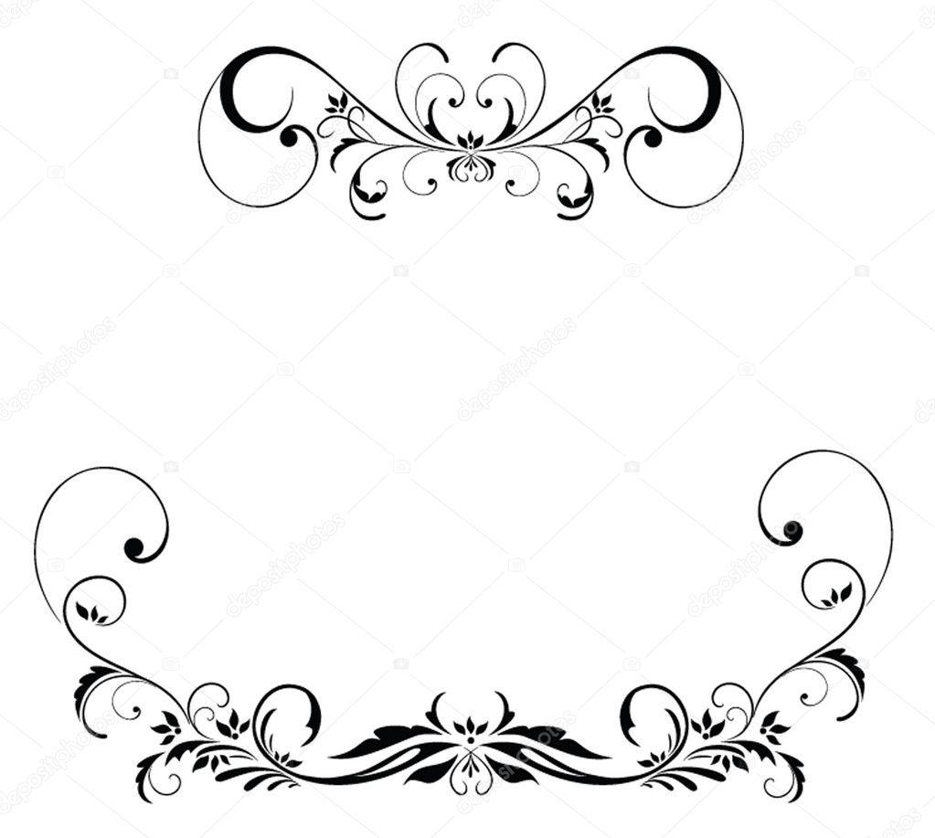 Floral vintage border — Stock Vector #21261315 Vintage Border Vector