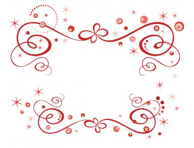 Red holiday border