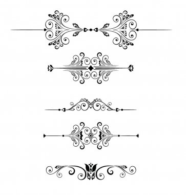 Set of decorative border