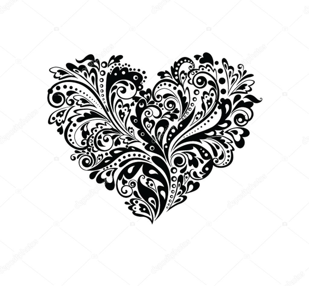 Черно белые картинки сердца параметры при росте 160