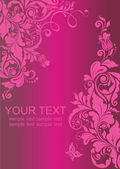 ročník květinové růžový nápis