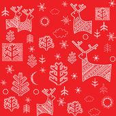 Red winter wallpaper. Raster copy