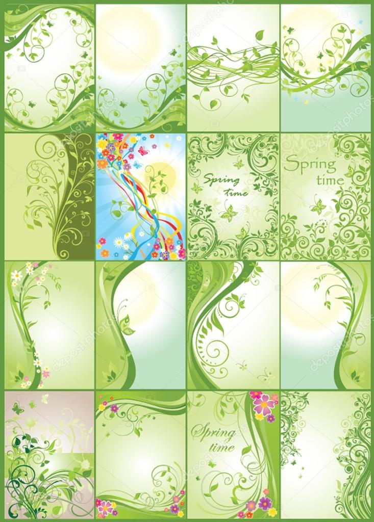 Spring green vertical banners