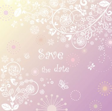 Beautiful lacy wedding background