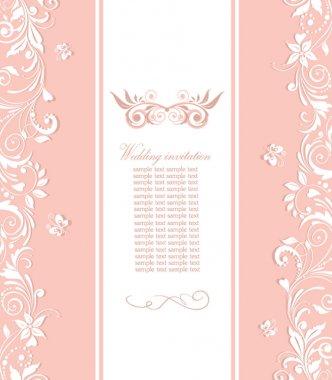 Beautiful pink invitation