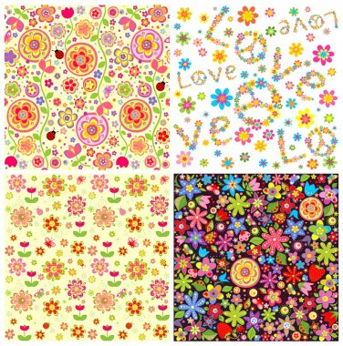 Abstract  floral wallpapers