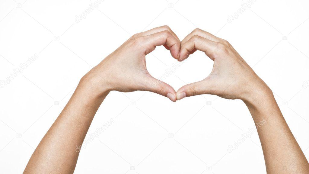 Manos Femeninas Formando Un Corazón