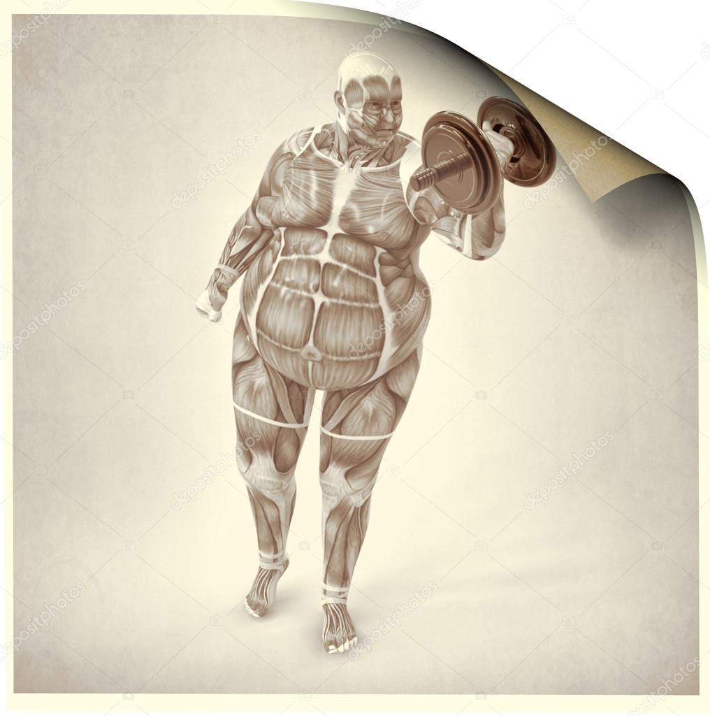 Anatomy man old — Stock Photo © Giovanni_Cancemi #27340667