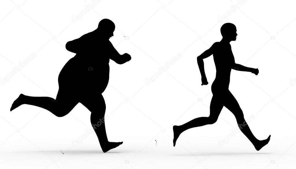 Fotos: Silueta Hombre Corriendo