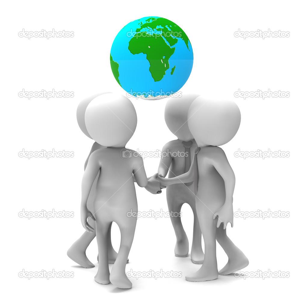 Geschäftsvereinbarung auf einer Welt — Stockfoto © Giovanni_Cancemi ...