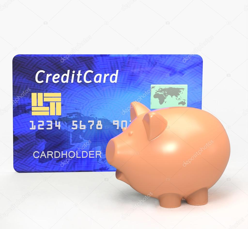 Piggy Bank With Credit Card Stock Photo Giovanni