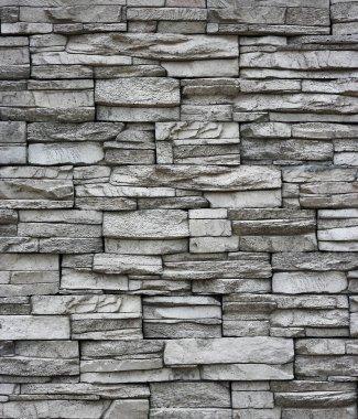 Grey brick wall. Brick wall as background. stock vector