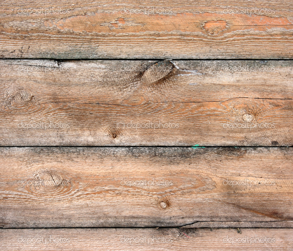 Old Rustic Wooden Wall Background Of Weathered Wooden Plank
