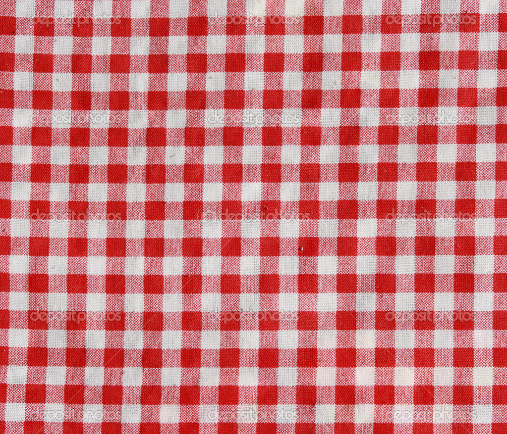 Red And White Checkered Picnic Blanket Stock Photo Alexeybykov