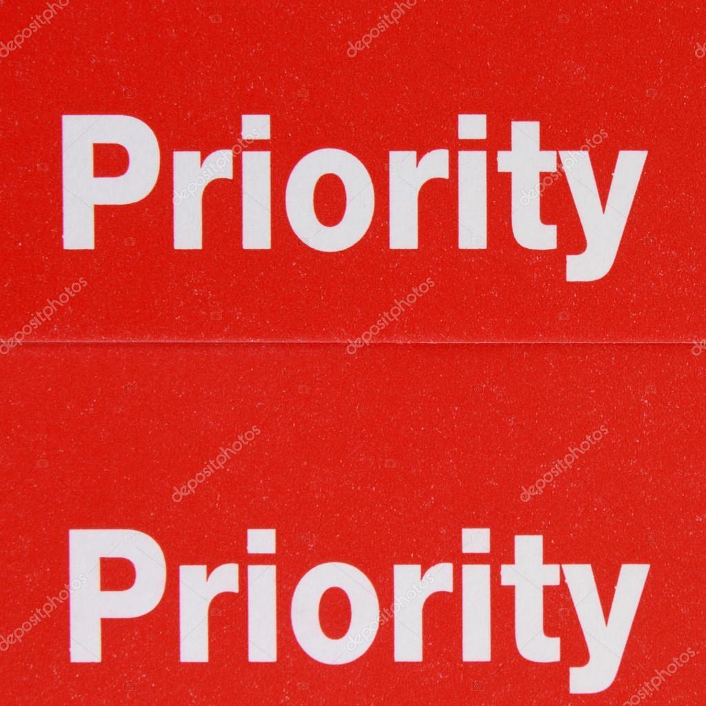 label priority — Stock Photo © Alexeybykov #47620709